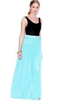 pretty blue maxi skirt!
