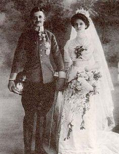 Charles I of Austria (last Emperor of Austria and last monarch of the House of Habsburg-Lorraine.) & Princess Zita of Bourbon-Parma.