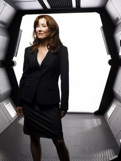 Mary McDonnell, President Laura Roslin in Battlestar Galactica. The epitome of cool and class.