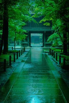 Heirin-ji temple in a rainy day, Niiza, Saitama, japan Japan Landscape, Fantasy Landscape, Beautiful World, Beautiful Places, Landscape Photography, Nature Photography, Travel Photography, Aesthetic Japan, Japanese Architecture