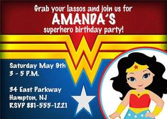 Wonder Woman Template Invitation Templates Graduation