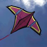 Angled Wing I by John Maxworthy, a plan for 1 line kite hosted at the bowed category of the KPB