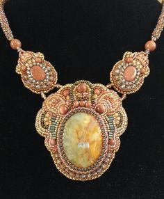 Arizona Jewel.  Bead embroidery by Stephanie Bancroft.