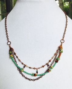 Southwestern NecklaceDetailed Copper and Bronze by SUSANsBAUBLES