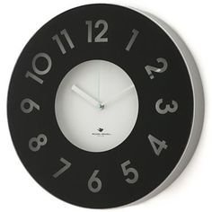Michael Graves Design Black Wall Clock - jcpenney