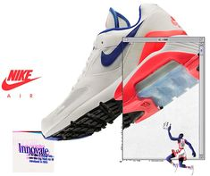 NIKE AIR MAX 180 [WHITE / ULTRAMARINE / SOLAR RED] 615287-100