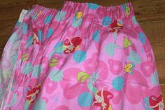 Disney's The Little Mermaid. Pair of Curtins. Disney Fabric, Retro Fabric, The Little Mermaid, Unicorns, Mermaids, Ties, Nostalgia, Etsy, Image