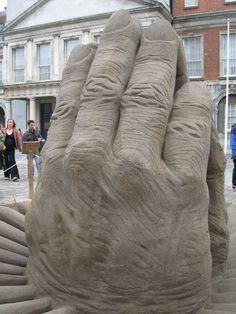 Sand Sculpture in Dublin (Ireland)-  Photograph by G. Paulian