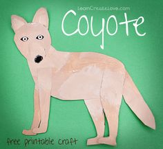{ Printable Craft: Coyote } from LearnCreateLove.com