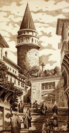 Gravürlerdeki Eski İstanbul - İstanbul - Türkiye