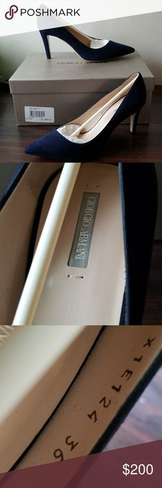 Giorgio armani blue pumps size 6 Brand new in box. Beautiful suede pumps. 100% authentic. Retail price $600 plus tax Giorgio Armani Shoes Heels