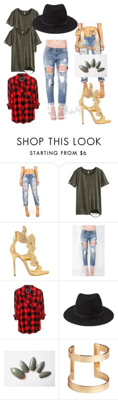 """Very Important Girl"" by pressplay-mj ❤ liked on Polyvore featuring H&M, Giuseppe Zanotti, Rails and Forever 21"