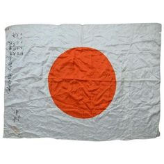 Captured Japanese WWII Rising Sun Battle Flag ($650) ❤ liked on Polyvore featuring home, outdoors, outdoor decor, decor, outdoor sun decor, japanese garden decor and japanese outdoor decor