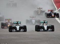 Right behind Rosberg on the 29th lap, Hamilton asked his engineer: 'Is there a massive difference between our tyres?'