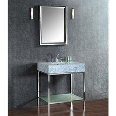 """Seacliff by ARIEL Brightwater 30"""" Single Sink Vanity Set"""