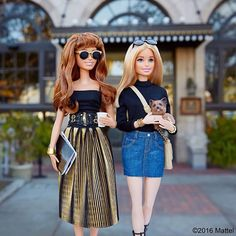 WEBSTA @ barbiestyle - Sunday status: brunch with my besties!  #barbie #barbiestyle