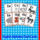 English alphabet flashcards go along with our other English alphabet activities. Flashcards are a great way to have students practice learning alph...