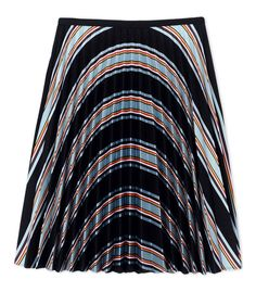 J.W. Anderson Black Striped Twill Pleated Skirt