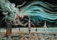 いいね!262件、コメント9件 ― Santiago Carusoさん(@santiagocaruso.art)のInstagramアカウント: 「The #Returned by #SantiagoCARUSO #detail #watercolor #gouache #dark #darkart #art #Surreal…」