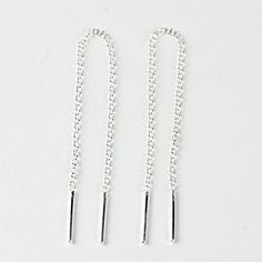 Chain Threader Earrings Sterling Silver Gold Plated
