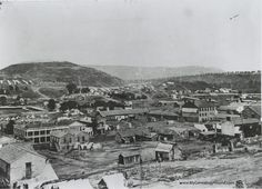 A Civil War era aerial photo of Chattanooga, taken around 1864