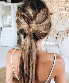 28 Easy Hairstyles Will Make You Look Awesome - Braid ponytail hairstyle #hairstyles