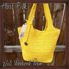 HP: The Sak Yellow Classic Bag Your perfect POP of color bag. Crouched yellow make this an eye turning classic. NWT. 7/18 Weekend Wear Host Pick The Sak Bags Hobos