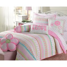 Greta Pastel Cotton 3-piece Quilt Set - 16650033 - Overstock.com Shopping - The Best Prices on Kids' Quilts