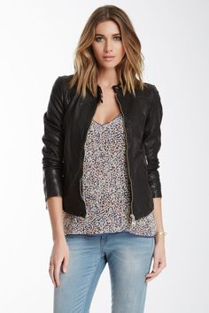 can you wear a sweatshirt under the danier vanessa leather jacket - Google Search