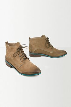 Anthropologie EU Leather Lace Up Boots