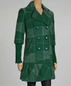 Take a look at this Bottle Wool-Blend Coat by DEPT on #zulily today!