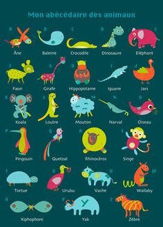 ABC in French with animals