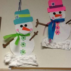 A cute snowman craft By Kathy Rose
