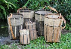 Woven rattan baskets from West Kalimantan. theartisanstablestore.com