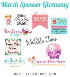 :: Winner will be announced at this post on 3/25/13.    If you would like more information on sponsoring the Lil Blue Boo blog and to read our disclaimer policy please gohere.