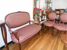 Impecables muebles de sala luis xv