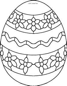 easter egg coloring page - Easter Egg Coloring Pages