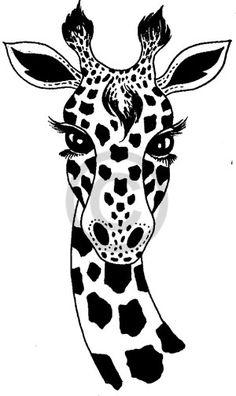Giraffe Stencil Patterns on pinterest flower template