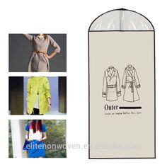 Home Outer Dress Suit Clothes Garment Cover Case Dustproof Storage Bags Protector Levert Dropship Garment Bags, Costume, Printed Bags, Custom Logos, Bag Storage, Winter Coat, Suits, Cover, Jackets
