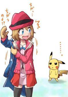 Pokemon Xyz Anime Episode 22 Serena And Satoshi Ash