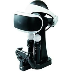 Charge and Display Station for Playstation VR : Safely displays the PlayStation VR Headset. Charges 1 DUALSHOCK 4 controller and 2 Move controllers. Officially licensed by Sony. Playstation 4 Accessories, Gaming Accessories, Nintendo Ds, Wii U, Xbox One, Playstation Logo, 17 Kpop, Milan, Electronic Parts