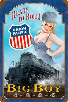 http://metalsigns.americanyesteryear.com/images/categories/pin-ups/railroad/union-pacific-railroad-pinup-pin-up-girl-trains