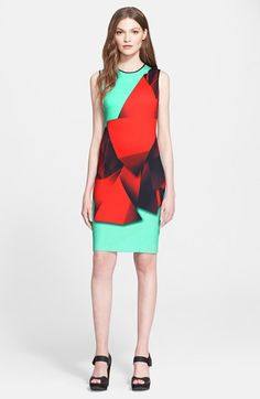 Clover Canyon 'Folded Floral' Print Neoprene Sheath Dress available at #Nordstrom