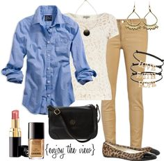 camel & blue, and oh the lace!