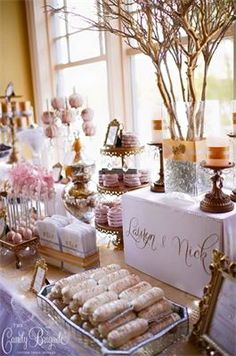 Blush Gold Candy Buffet By The Brigade