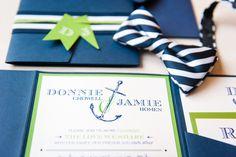Love this Pic!   Invitation by: Lusterdesigns.com Photo credit:  Desjar Photography #natuicalinvitation #invitation #wedding #nautical #details #blue
