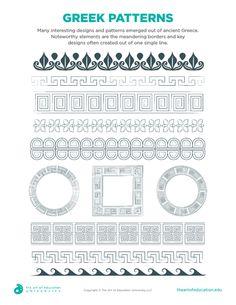 Greek Patterns - FLEX Resource