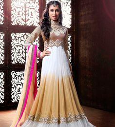 title_Shraddha Kapoor Brown Beige Lehenga Anarkali_T-631-516