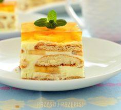 Ciasto bananowe bez pieczenia Polish Recipes, Polish Food, Banana, Sweet Recipes, Oreo, French Toast, Mango, Cheesecake, Pudding