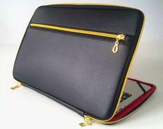 Etsy の leather laptop case for 13 laptop by JosephineMDesigner